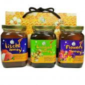 [上喆蜂蜜]百花蜜+龍眼蜜+玉荷包蜂蜜禮盒組-350g(3瓶裝)